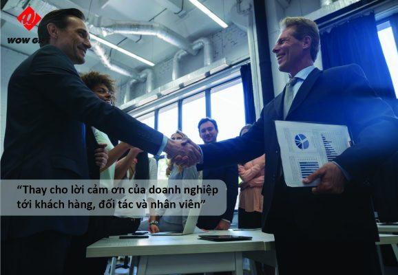 Quà tặng thay cho lời cảm ơn của doanh nghiệp tới đối tác