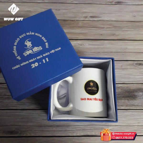 cốc sứ in logo quà tặng khách hàng