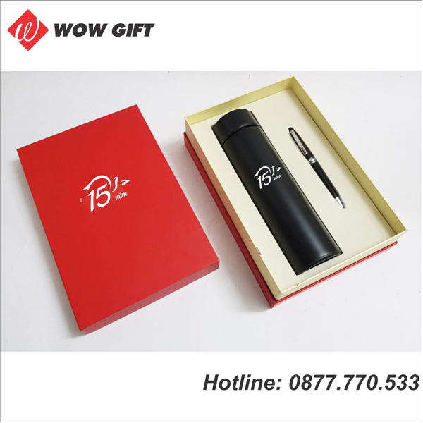 quà tặng doanh nghiệp quà tặng bình giữ nhiệt và bút ký