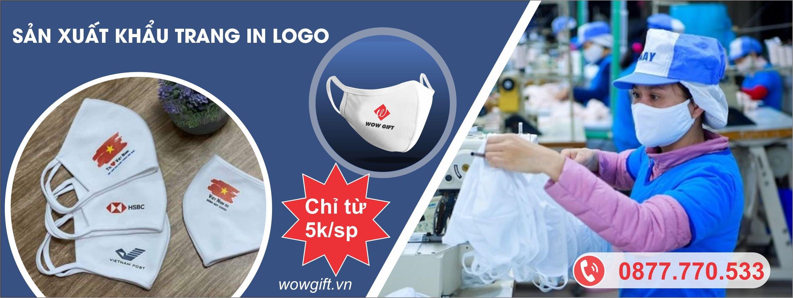 đặt khẩu trang in logo doanh nghiệp