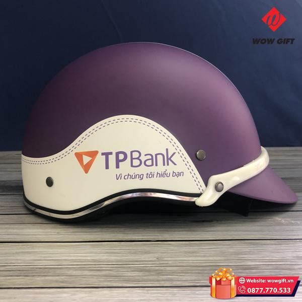 Mũ bảo hiểm in logo quà tặng khách hàng