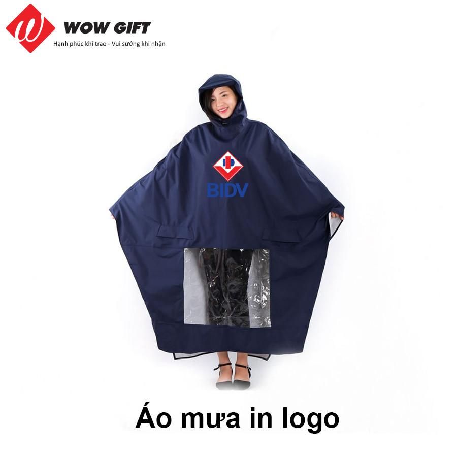 Áo mưa in logo quà tặng khách hàng